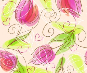 Set of different Flower Pattern elements vector 02