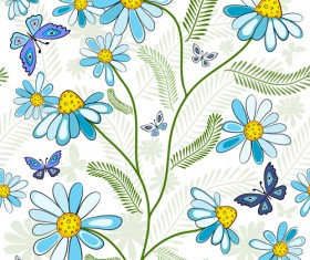 Set of different Flower Pattern elements vector 03