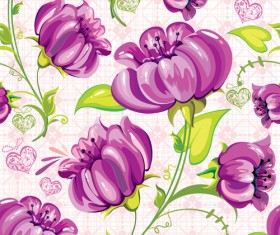 Set of different Flower Pattern elements vector 04