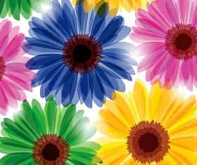 Set of different Flower Pattern elements vector 07
