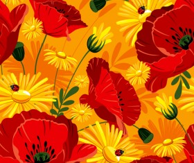 Set of different Flower Pattern elements vector 08