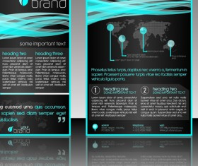 Commonly Flyer and business card design vector 02