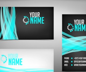 Commonly Flyer and business card design vector 04