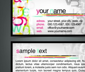 Commonly Flyer and business card design vector 05