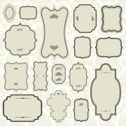 Link toRetro decor frames design vector 01