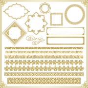 Link toRetro decor frames design vector 05