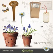 Link toVector set of gardening tool graphic 01