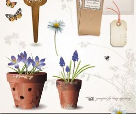 Vector set of Gardening Tool graphic 01