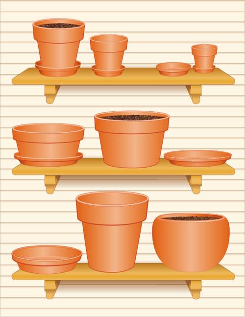 Vector set of Gardening Tool graphic 03