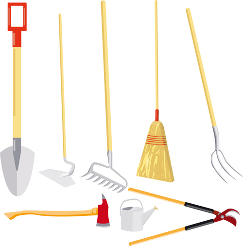 Vector set of Gardening Tool graphic 05 Vector Life free