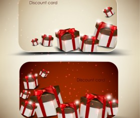 Creative of Gift discount cards design vector 01