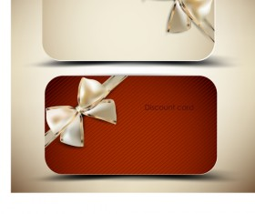 Creative of Gift discount cards design vector 02