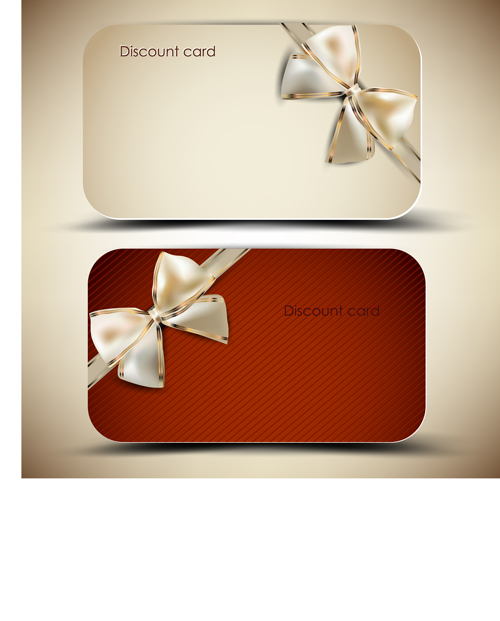 Creative of Gift discount cards design vector 02  Vector Card free download