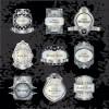 Golden luxurious Retro labels design vector 01