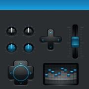 Link toBlack and blue web button vector set 03