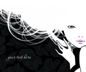 Hairdresser and  beauty salon theme vector background 02