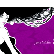 Link toHairdresser and  beauty salon theme vector background 03