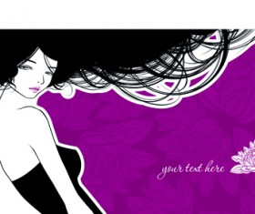 Hairdresser and  beauty salon theme vector background 03