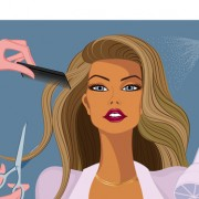Link toHairdresser and  beauty salon theme vector background 04
