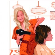 Link toHairdresser and  beauty salon theme vector background 05