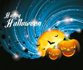 Halloween party background with pumpkin vector 01