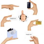 Link toDifferent hands gesture design vector 03