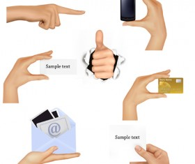 Different Hands gesture design vector 03