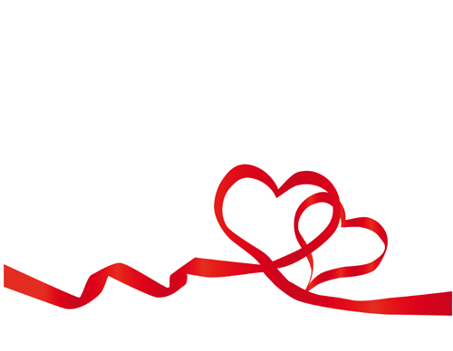 Creative Heart from red ribbon design vector 04 - Vector Heart ...