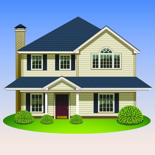 Creative of houses design elements vector 05 free download for Pictures of home