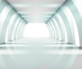 Spacious Bright of empty room vector 01