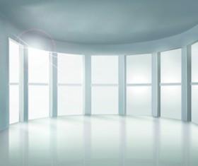 Spacious Bright of empty room vector 02