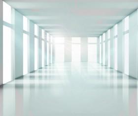 Spacious Bright of empty room vector 03