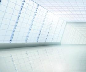 Spacious Bright of empty room vector 04