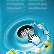 Link toElements of internet concept background design vector 03