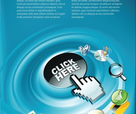 Elements of Internet concept background design vector 03