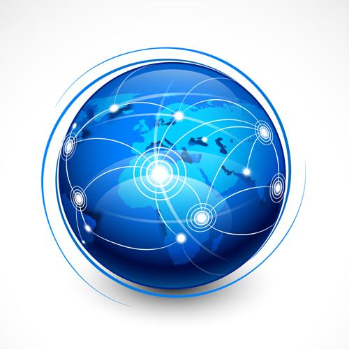 Elements of Internet concept background design vector 04