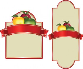 Set of products Labels templates vector 02