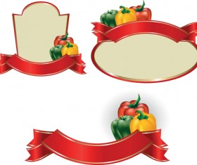 Set of products Labels templates vector 03