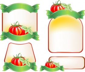 Set of products Labels templates vector 04
