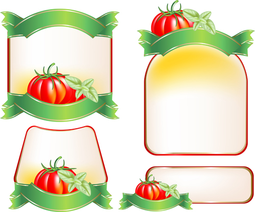 Set of products Labels templates vector 04 free download