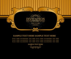 Set of Luxury invitation background elements vector 02