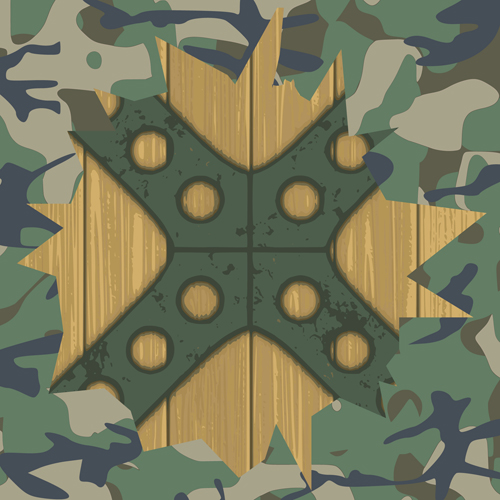military elements frame vector 01 - Military Frames