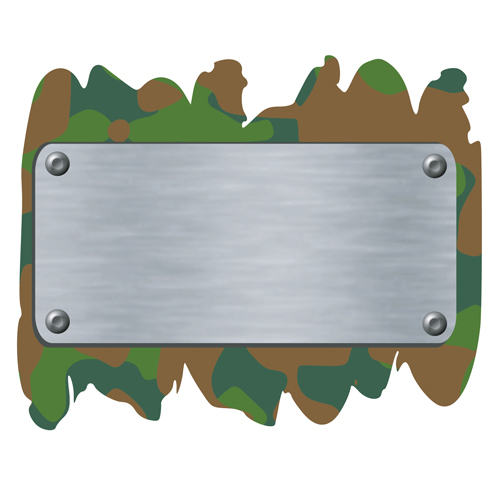 military elements frame vector 04