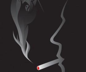 No Smoking Warning elements vector set 05
