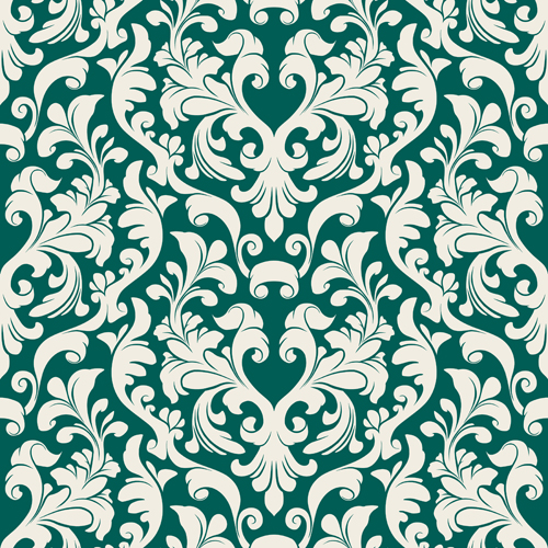 Set of Seamless Ornament pattern design vector 02 free ...