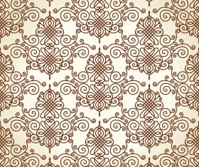 Set of Seamless Ornament pattern design vector 05