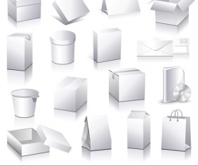 Different blank Packaging design vector set 01