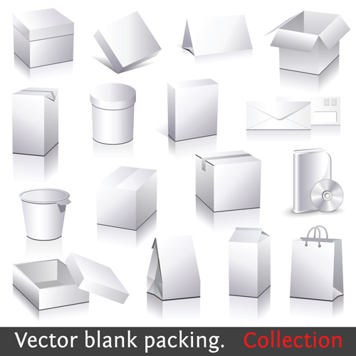 Different blank packaging design vector set 01 – Over millions ...