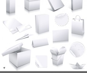 Different blank Packaging design vector set 05