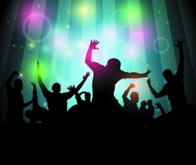 Set of Music Party People design Vector 01